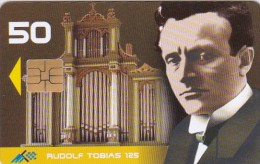 Estonia, ET 091, Rudolf Tobias, Musician - 125,  2 Scans. - Estonie