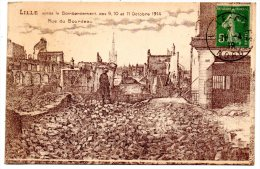 CP, 59, LILLE, Après Le Bombardement Des 9-10-11 Octobre 1914, Rue Du Bourdeau, écrite, Voyagé En 1919 - Lille