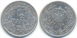1/2 Mark 1905 F, Kaiserreich, Silber - [ 2] 1871-1918 : Empire Allemand