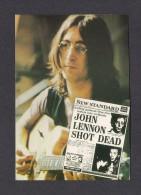 MUSIQUE ET MUSICIENS - THE BEATLES - JOHN LENNON SHOT DEAD - PRINTED IN ENGLAND - Musique Et Musiciens