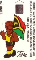 VANUATU SOUTH PACIFIC GAMES JEUX PACIFIQUE SUD 1993 TAM FLAG DRAPEAU 150U UT - Vanuatu