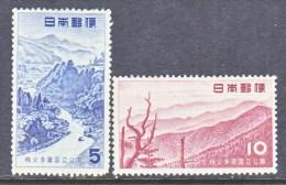 Japan  607-8  *  PARKS - Unused Stamps