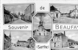 Cpsm Dentelee Souvenir De Beaufay Multivues - France