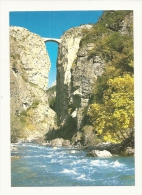 Cp, 04, En Haute-Ubaye, Le Pont Du Chatelet Enjambe L'Ubaye, Voyagée 1999 - France