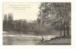 Cp, 25, Besançon, Barrage St-Paul, Et Fort Beauregard - Besancon