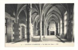 Cp, 37, Amboise, Le Château, La Salle Des Etats - Amboise