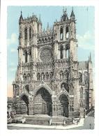 Cp, 80, Amiens, La Cathédrale, Voyagée 1955 - Amiens