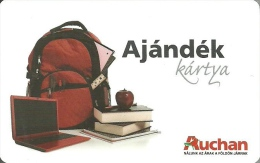 AUCHAN * HYPERMARKET * BOOK APPLE FRUIT PLANT BACKPACK COMPUTER LAPTOP PENCIL RULER * GIFT CARD * Auchan 02 C * Hungary - Gift Cards
