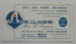 Autocollant Publlicité Voilerie CLAVERIE Arcachon Voiles Mme L. Daunais - Autocollants