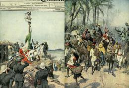 1911 CONQUISTA ITALIANA TRIPOLITANIA SGOMBERO DELL'OASI DI TRIPOLI - Libri, Riviste, Fumetti