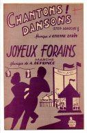 Partition - Chantons Dansons Et Joyeux Forains De M. Gersol Et Etienne Lorin - Partitions Musicales Anciennes