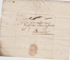 PRECURSEUR DE GAND VERS AUDENARDE 1727 + TEXTE ET SIGNATURE A VOIR - 1714-1794 (Austrian Netherlands)