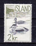 ICELAND  1959/60  , Fauna  2 Kr  , Y&T #  296, Cv  0.50  E ( Cat 2004 ) ,  * MH , VF - 1944-... Repubblica