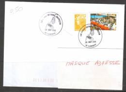 """Lettre BT Festival Interceltique 03 Aout 2009 - LORIENT  Sur Timbre """"Bagad De Lann Bihoue"""" - Marcophilie (Lettres)"""