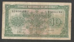 [NC] BANQUE NATIONALE De BELGIQUE - 10 FRANCS Ou 2 BELGAS (01 - 02 - 1943) - [ 2] 1831-... : Regno Del Belgio