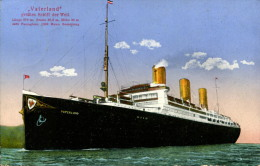 AK Dampfer Vaterland 1915 Schiff Passagierdampfer HAPAG / Ship Boat Steamer - Paquebots