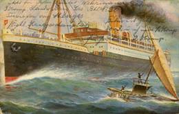 AK Schnelldampfer Fürst Bismarck 1915 Schiff Dampfer HAPAG Feldpost / Ship Boat Steamer - Paquebots