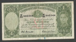 [NC] COMMONWEALTH Of AUSTRALIA - 1 POUND - GEORGE VI (1952 - R. WILSON) - Pre-decimal Government Issues 1913-1965