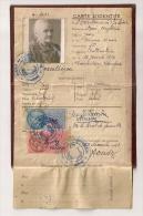 CARTE D'IDENTITE DE 1943 AVEC TIMBRES FISCAUX  MAIRIE DE COURTHEZON CP8486 - Fiscale Zegels