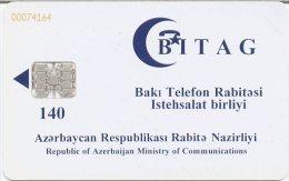 @+ Azerbaijan - Telecarte à Puce 140U - Puce SC7 - Azerbaïjan