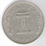 MALTA 5 CENTS 1972 - Malta