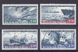 Mub001 FAUNA VOGELS VISSEN VISSERSBOOT BIRDS FISH FISHING BOATS SHIPS FISCHE AVES OISEAUX DENEMARKEN DANMARK 1984 PF/MNH - Peces