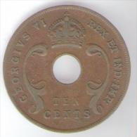EAST AFRICA 10 CENTS 1941 GEORGIUS VI - Monete
