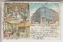 5600 WUPPERTAL - BARMEN, Lithographie, Restaurant G. Wohlfahrt, 1906 - Wuppertal