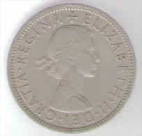 GRAN BRETAGNA HALF CROWN 1957 - 1902-1971 : Monete Post-Vittoriane