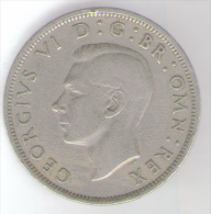 GRAN BRETAGNA HALF CROWN 1948 - K. 1/2 Crown