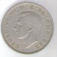 GRAN BRETAGNA HALF CROWN 1948 - 1902-1971 : Monete Post-Vittoriane