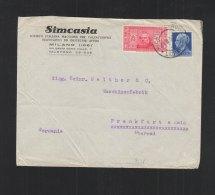 Italia Lettera 1932 Milano Frankfurt - 1900-44 Victor Emmanuel III.