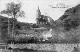 Cpa 1934, CHAUDESAIGUES, Chapelle De ND De Pitié Isolée Sur Sa Colline   (21.26) - France