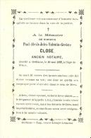 Gedinne Paul-alexis-jules-valentin-gustave Close Ancien Notaire 1892 Imp.veuve Lemye-lesuisse - Devotion Images