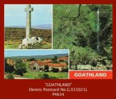 """P4634  """"GOATHLAND…""""  (c.1980's. Colour Photogravure Multi-view Postcard) - Unclassified"""