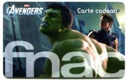 @+ Carte Cadeau - Gift Card : FNAC : AVENGERS (CARTE B). - France