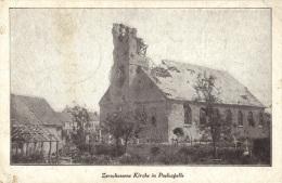 POELCAPELLE        Zerschossene Kirche     1917 - Langemark-Poelkapelle