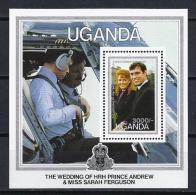 FAMILIAS REALES - UGANDA 1986 - Yvert # H59 - MNH ** - Familias Reales