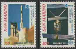 "San Marino 1991 Mi 1465 /6 ** Launch Of ""Ariane-4"" + ""E.R.S.-1"" Survey Satellite/ Trägerrakete + Erdbeobachtungssatellit - Space"