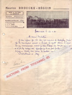 Brief Geillustreerd 1941 RAMSKAPELLE (NIEUPORT) - Maurice BROUCKE - BEGUIN -Haras & Cultures Du NOORDHOF - Semences - Belgique