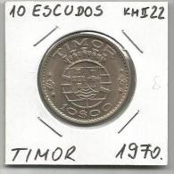 D2 Timor 10 Escudos 1970. KM#22 - Timor