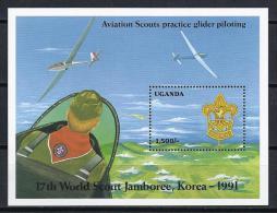 SCOUTS - UGANDA 1991 - Yvert # H145  - MNH ** - Movimiento Scout