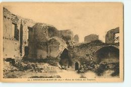 Gréoux Les Bains : Ruines Du Château Des Templiers (Vue Peu Courante). 2 Scans. Edition Nova - Gréoux-les-Bains