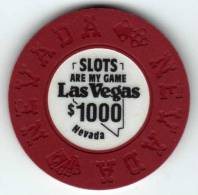Jeton Chip De Casino : Slots Are My Game Las Vegas Nevada $1000 (Fantasie) - Casino