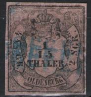 Einzeiler Seefeld Auf 1/15 Thaler Rosa - Oldenburg Nr. 3I - Oldenburg