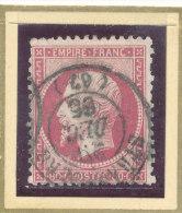 N°24 CACHET A DATE PLEIN CENTRE A VOIR!!!!!!!!!!!!! - 1862 Napoléon III