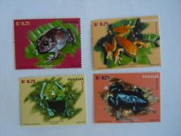 Panama 1997 Frogs Grenouille Kikkers Yv 1142-1145 MNH ** - Frogs