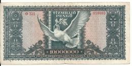 HONGRIE 10 MILLION PENGO 1945 VF P 123 - Hungary