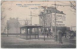 19550g CAFE - RESTAURANT  AU BELVEDERE - Avenue De Tervueren - 1908 - Charrette à Cheval - St-Pieters-Woluwe - Woluwe-St-Pierre