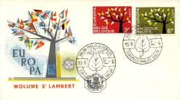 FDC België - 1962 - Blanco / Open Klep - 1962
